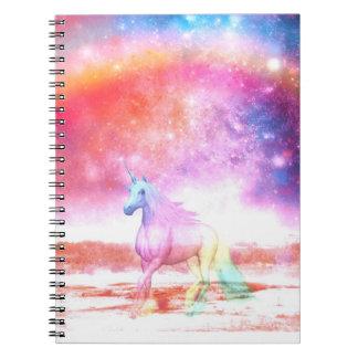 Unicornio del arco iris spiral notebooks