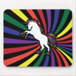Unicornio del arco iris tapete de raton
