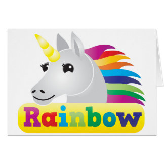 Unicornio del arco iris tarjetas