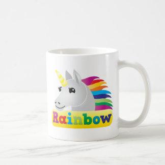Unicornio del arco iris tazas de café