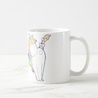 Unicornio del arco iris taza clásica