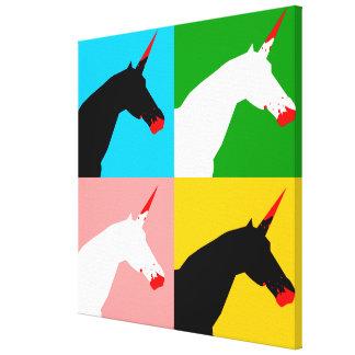 Unicornio del asesino (impresión del arte) impresiones en lona