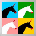 Unicornio del asesino (impresión del arte) poster