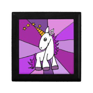 Unicornio del bebé con arte de oro del cuerno cajas de regalo