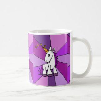 Unicornio del bebé con arte de oro del cuerno tazas de café