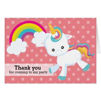 Unicornio del bebé * elija su color de fondo tarjeta de felicitación