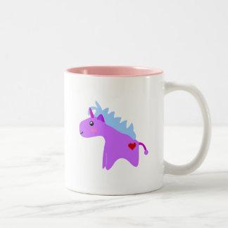 Unicornio del bebé taza de dos tonos