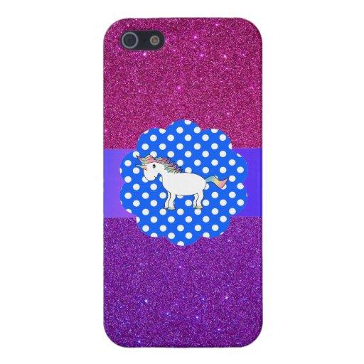 Unicornio del brillo iPhone 5 cárcasa