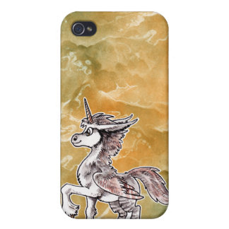 Unicornio del búho iPhone 4 fundas