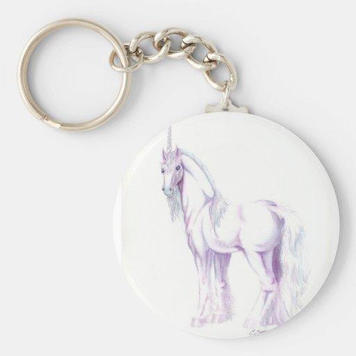 unicornio del caballo blanco llaveros