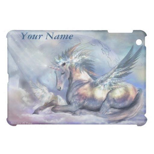 Unicornio del caso del arte de la paz para el iPad