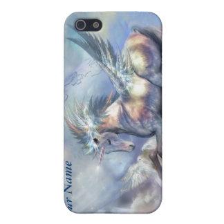 Unicornio del caso del arte de la paz para el iPho iPhone 5 Carcasa