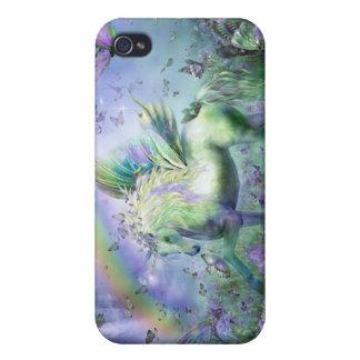 Unicornio del caso del arte de las mariposas para  iPhone 4 cárcasas
