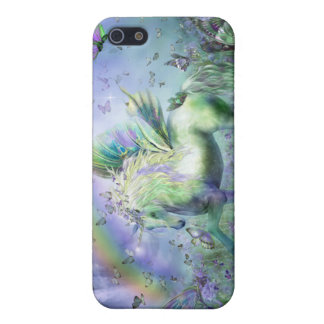 Unicornio del caso del arte de las mariposas para  iPhone 5 carcasa