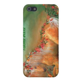Unicornio del caso del arte de los rosas para IPho iPhone 5 Fundas