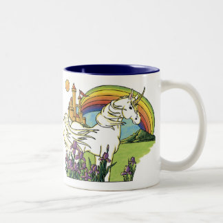 Unicornio del cuento de hadas taza de café