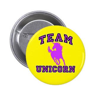 Unicornio del equipo pin redondo 5 cm