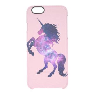 Unicornio del espacio funda clearly™ deflector para iPhone 6 de uncommon