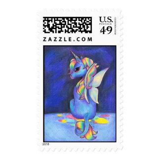 Unicornio del Faerie del arco iris Sello