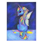 Unicornio del Faerie del arco iris Tarjetas Postales