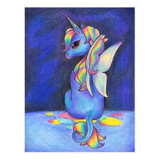 Unicornio del Faerie del arco iris Tarjeta Postal
