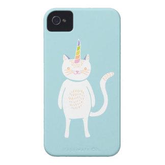 Unicornio del gatito funda para iPhone 4