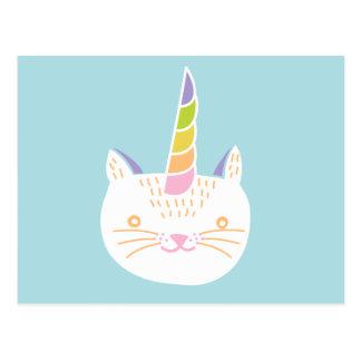 Unicornio del gatito postales