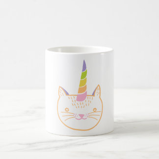 Unicornio del gatito taza de café