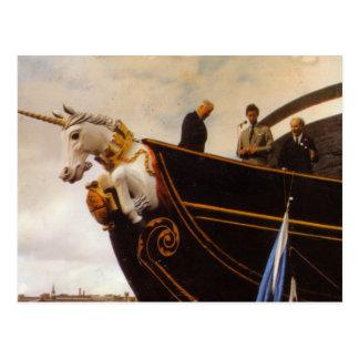 Unicornio del HMS Tarjeta Postal