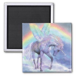 Unicornio del imán del arte del arco iris