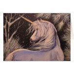 Unicornio del invierno tarjetón