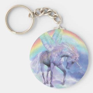 Unicornio del llavero del arte del arco iris
