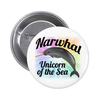 Unicornio del mar, arco iris lindo de Narwhal Pin