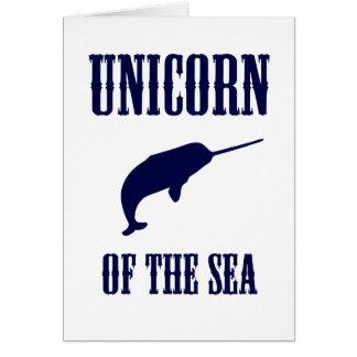 Unicornio del mar (Narwhal) Tarjetón