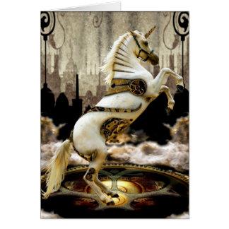 Unicornio del mecanismo tarjeta de felicitación