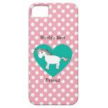 Unicornio del mejor amigo del mundo iPhone 5 Case-Mate cárcasas
