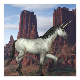 Unicornio del Mid West Invitación 13,3 Cm X 13,3cm