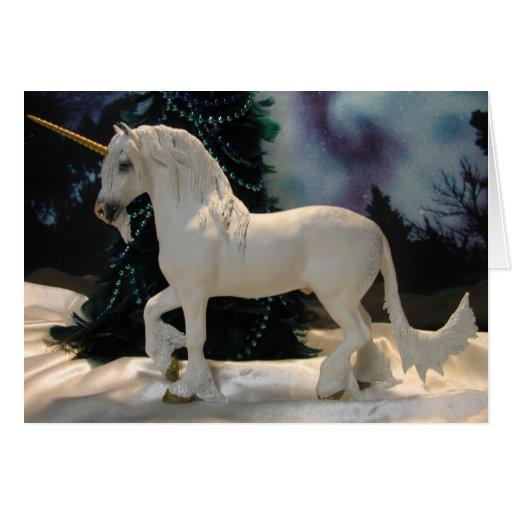 Unicornio del navidad tarjeta de felicitación