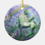 Unicornio del ornamento del día de fiesta de las ornamento para reyes magos