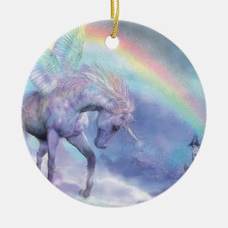 Unicornio del ornamento del día de fiesta del arco ornamentos para reyes magos