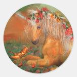 Unicornio del pegatina del arte de los rosas