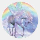 Unicornio del pegatina del arte del arco iris