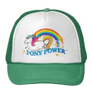 Unicornio del poder del potro gorra