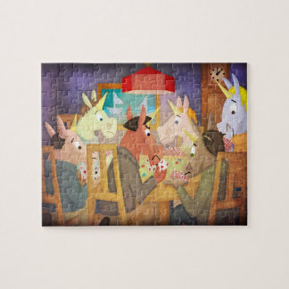 Unicornio del póker puzzles con fotos