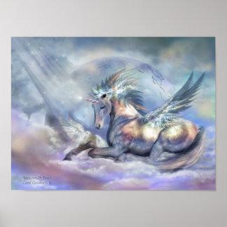 Unicornio del poster de la impresión del arte de l