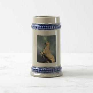 Unicornio del rayo jarra de cerveza