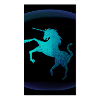 unicornio del tótem tarjetas de visita