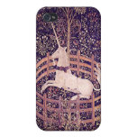 Unicornio del vintage en el personalizado iPho de  iPhone 4 Cárcasa