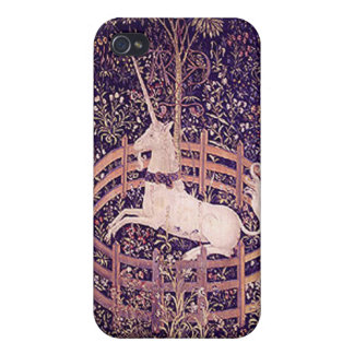 Unicornio del vintage en el personalizado iPho de  iPhone 4/4S Funda