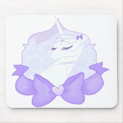 Unicornio delicado Mousepad Alfombrillas De Ratón
